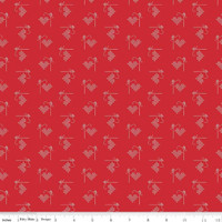Riley Blake Fabric - Bee Basics - Lori Holt - Heart Red #C6401-RED