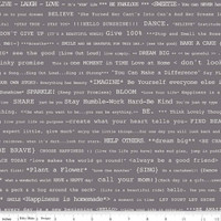 Riley Blake Fabric - Bee Basics - Lori Holt - Happy Text Gray #C6402-GRAY