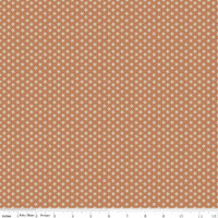 Riley Blake Fabric - Bee Basics - Lori Holt - Tiny Daisy Cinnamon #C6403-CINNAMON
