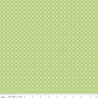 Riley Blake Fabric - Bee Basics - Lori Holt - Polka Dot Green #C6405-GREEN