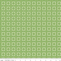 Riley Blake Fabric - Bee Basics - Lori Holt - Circle Green #C6407-GREEN