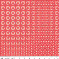 Riley Blake Fabric - Bee Basics - Lori Holt - Circle Red #C6407-RED
