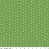 Riley Blake Fabric - Bee Basics - Lori Holt - Scissor Green #C6408-GREEN
