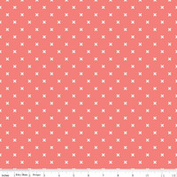 Riley Blake Fabric - Bee Basics - Lori Holt - X Coral #C6410-CORAL