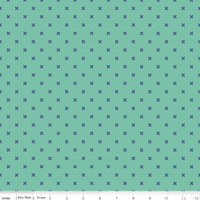 Riley Blake Fabric - Bee Basics - Lori Holt - X Teal #C6410-TEAL
