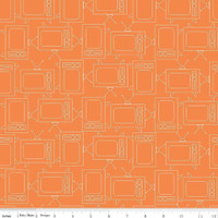 Riley Blake Fabric - Bee Basics - Lori Holt - TV Orange #C6411-ORANGE