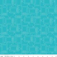 Riley Blake Fabric - Bee Basics - Lori Holt - TV Turquoise #C6411-TURQUOISE