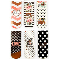 Prima Marketing - My Prima Planner - Prima Love, Faith, Scrap - Planner Magnetic Bookmarks