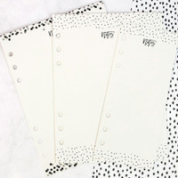 My Prima Planner - Dry Erase Boards - Black and White - A5 Size