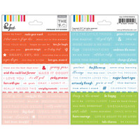 Pink Fresh - Cardstock Planner Stickers - Phrases
