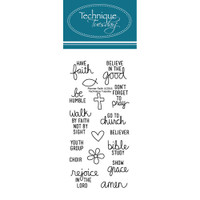 Technique Tuesday Clear Stamps - Faith