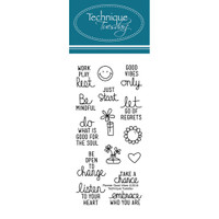 Technique Tuesday Clear Stamps - Good Vibes