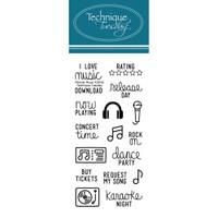 Technique Tuesday Clear Stamps - Music