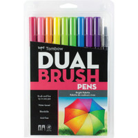 Tombow - Dual Brush Markers - Set of 10 - Bright