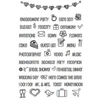 SRM Press - SRM Planner Clear Stamps - Wedding Plans
