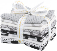 Robert Kaufman Fabric - Fat Quarter Bundle - Spot On Neutral Colorstory