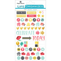 Paper House Life Organized Planner Stickers - Family