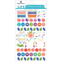 Paper House Life Organized Planner Stickers - Live Bold