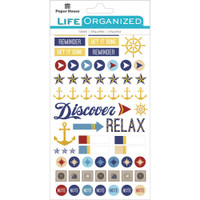Paper House Life Organized Planner Stickers - Nautical Stickers - Anchor, Ships Travel