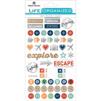 Paper House Life Organized Planner Stickers - Travel and Adventure Stickers
