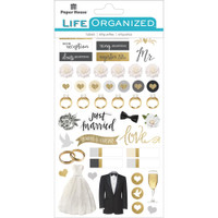 Paper House Life Organized Planner Stickers - Always and Forever Wedding Stickers