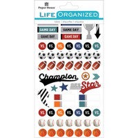 Paper House Life Organized Planner Stickers - Sports Planner Stickers - Football, Sport