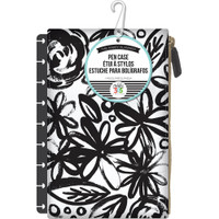 Me and My Big Ideas - The Happy Planner - Snap In Pen Case - Black Flowers
