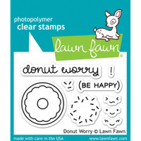 Lawn Fawn Clear Stamps - Donut Worry