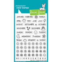 Lawn Fawn Clear Stamps - Plan On It - Calendar