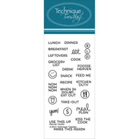 Technique Tuesday Clear Stamps - Foodie