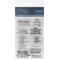 Technique Tuesday Clear Stamps - Scrapbook It