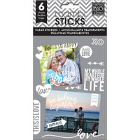 Me and My Big Ideas - The Happy Planner - Pocket Pages Clear Stickers - True Love