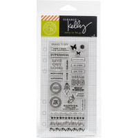 Hero Arts - Kelly Purkey Clear Stamps - Girl Talk Planner