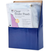 Clear Binder Pocket - 3 & 5 Ring Binders