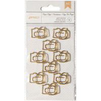 Designer Desktop Essentials Paper Clips Small - Camera - Set of 9