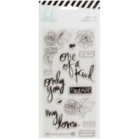 Heidi Swapp - Magnolia Jane Clear Stamps - Only You Words & Icons