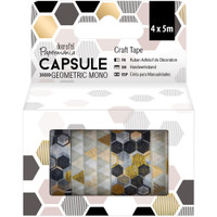 Papermania Geometric Mono Washi Tape - Set of 4