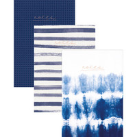 "Kaisercraft - Kaiser Style Notebooks 6"" x 8"" - Set of 3 - Indigo"
