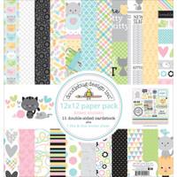 """Doodlebug Double-Sided Paper Pack 12""""X12"""" - Kitten Smitten"""