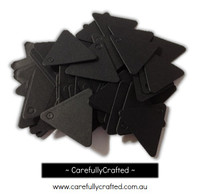 25 Black Gift Tag - Triangles #GT25