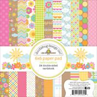 "Doodlebug Double-Sided Paper Pad 6"" x 6"" - Hello Sunshine"