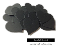 25 Black Gift Tag - Hearts #GT26