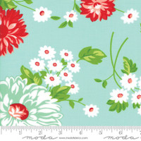 Moda Fabric - The Good Life - Bonnie & Camille - Aqua Floral #55150 12