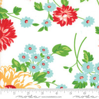 Moda Fabric - The Good Life - Bonnie & Camille - Cream Floral #55150 19