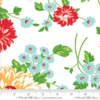 Moda Fabric - The Good Life - Bonnie & Camille - Cream Floral #55150 19
