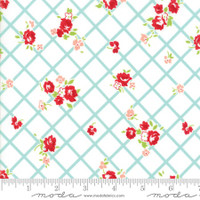 Moda Fabric - The Good Life - Bonnie & Camille  Cream Aqua 55153 12