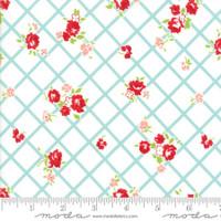 Moda Fabric - The Good Life - Bonnie & Camille  Cream Aqua 55153 12