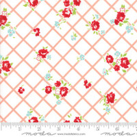 Moda Fabric - The Good Life - Bonnie & Camille  Cream Coral  55153 13