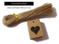 25 Kraft Gift Tag - 100% Handmade Heart #GT31