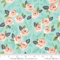Moda Fabric - Sugar Pie - Lella Boutique - Aqua #5040 15